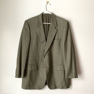 Corneliani Italy Virgin Wool Window Pane Blazer 52